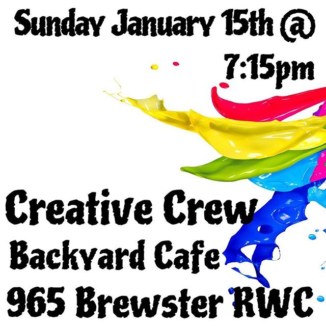 This Sunday 1/15 @backyardcoffeeco !! Who wants to share?? #redwoodcity #art