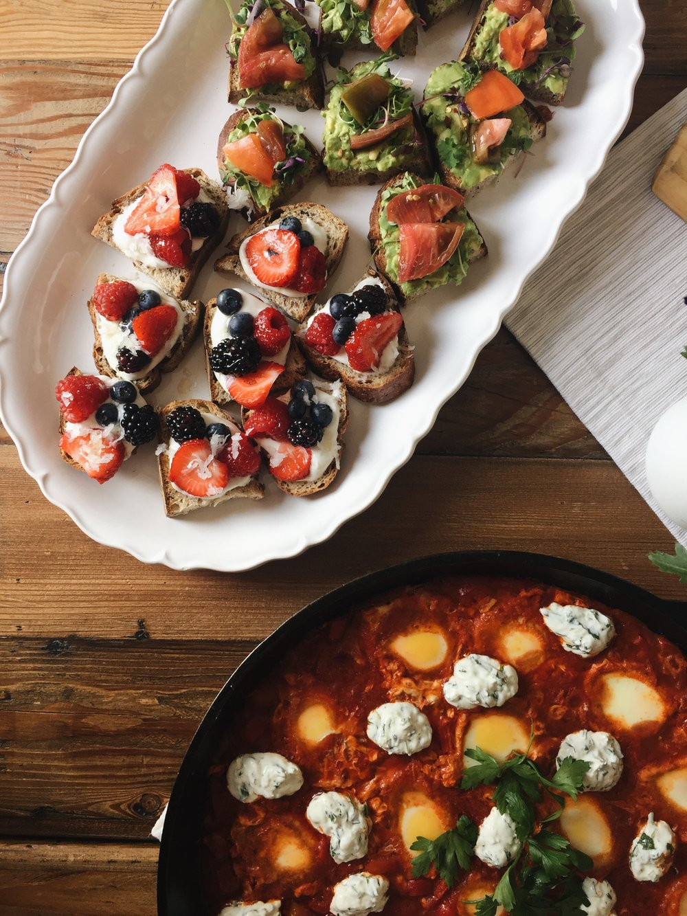 All the toasts + shakshuka!