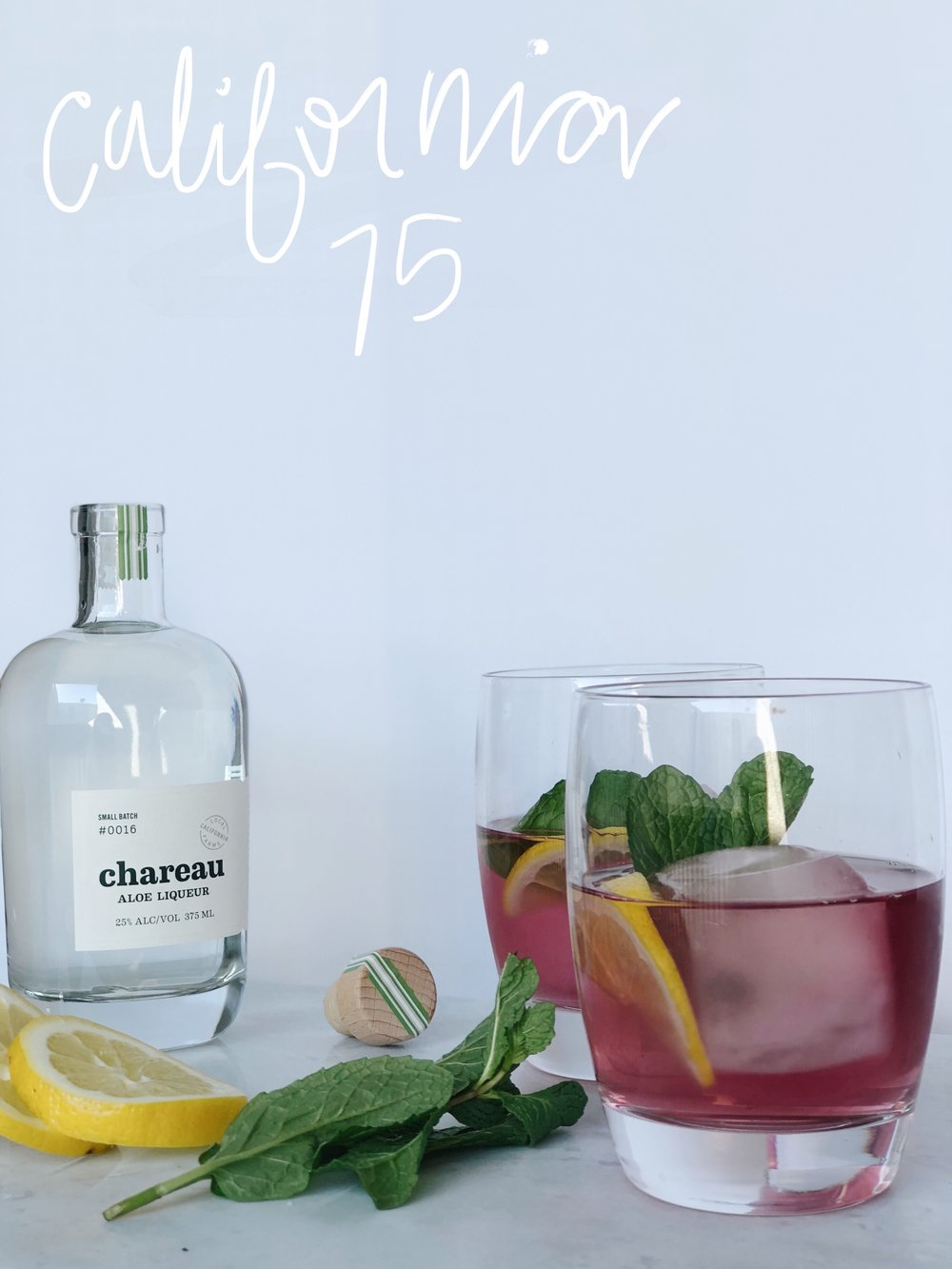 A good pink cocktail to kick off your cooking!