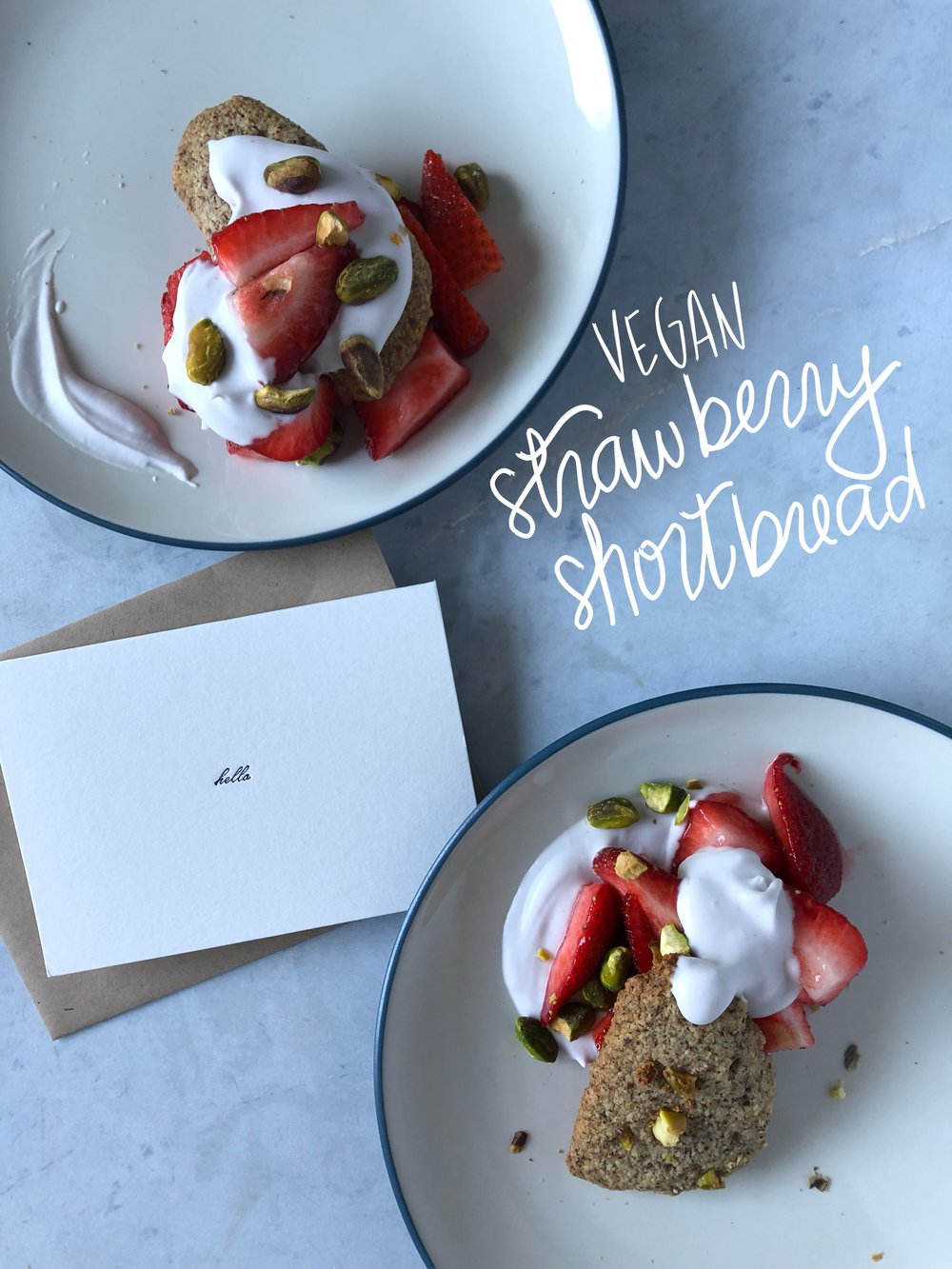 shortbread and strawberries!