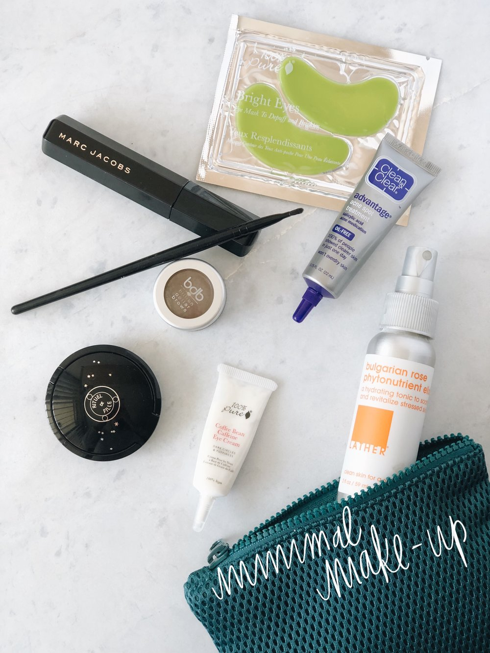 I don't wear a ton of makeup, but here's what I do use!
