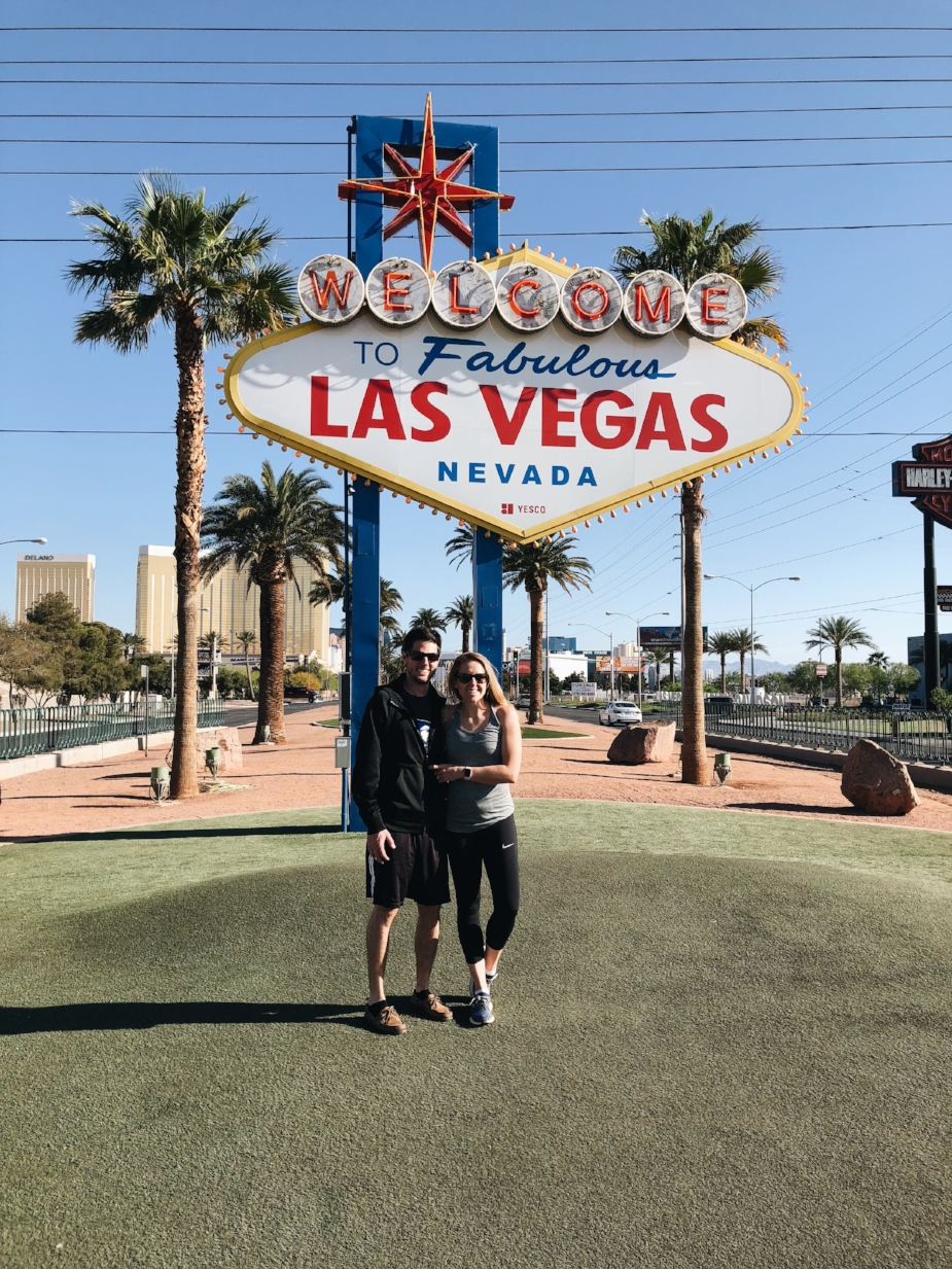 10 minute stop in Vegas for gas and a little bit of tourism!