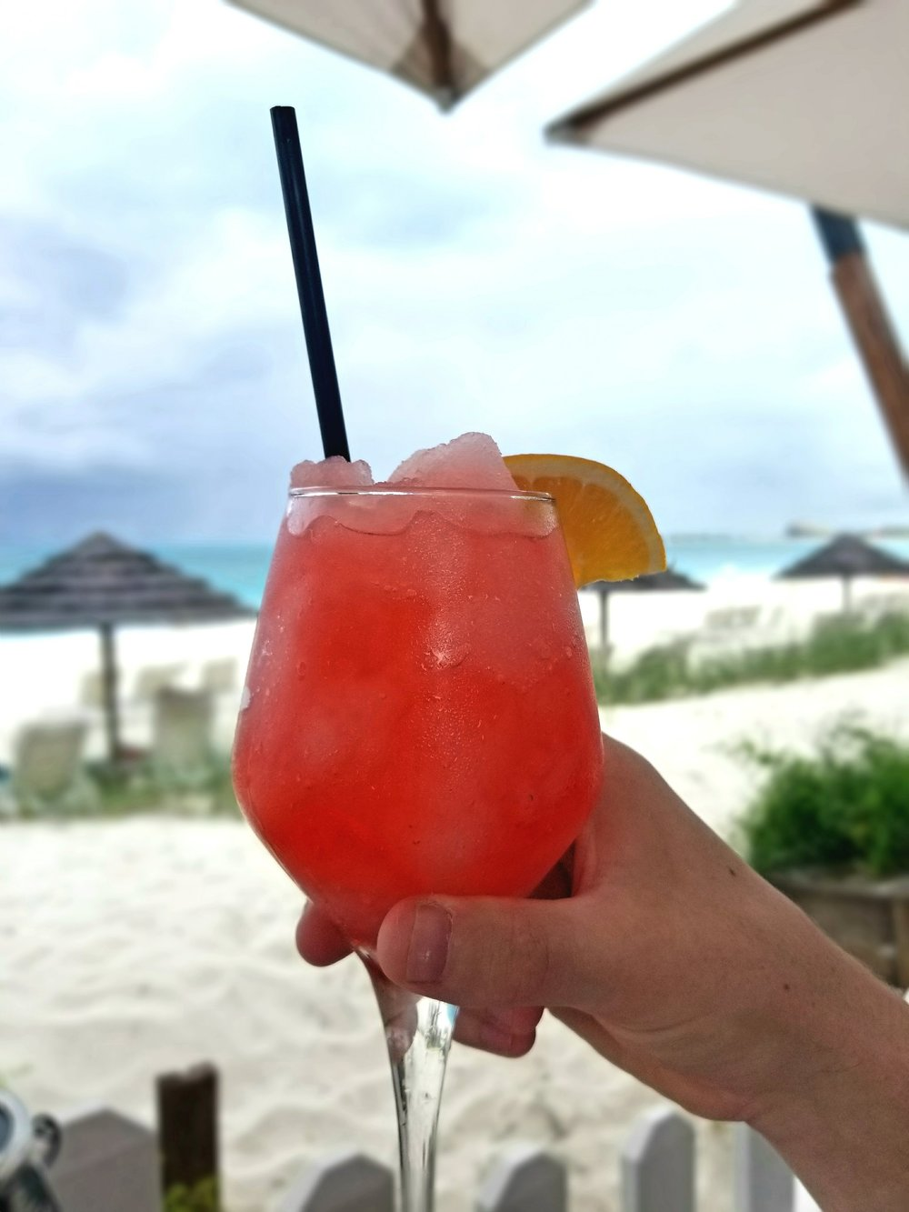 We went for Happy Hour and stayed for several hours.  The frozes at The Deck @ Seven Stars Resort are light, refreshing, come with a solid pour and epic view.  Be sure to bring a cover up.