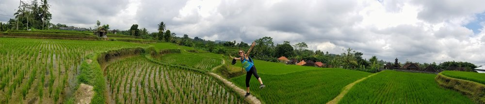 Biking and exploring through the rice fields in Ubud.