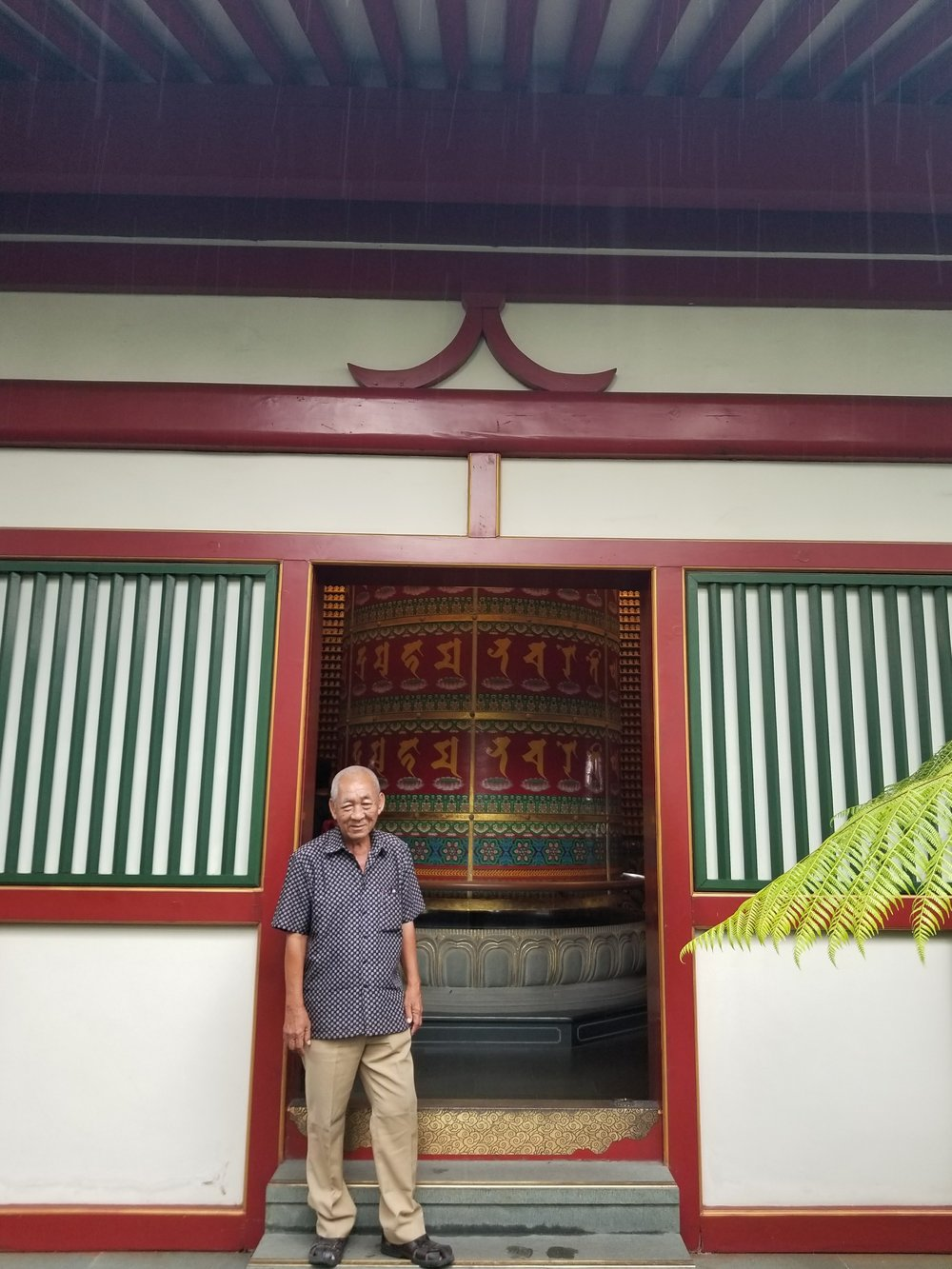 Bernard, the man who took me on a tour around the Buddhist Temple.