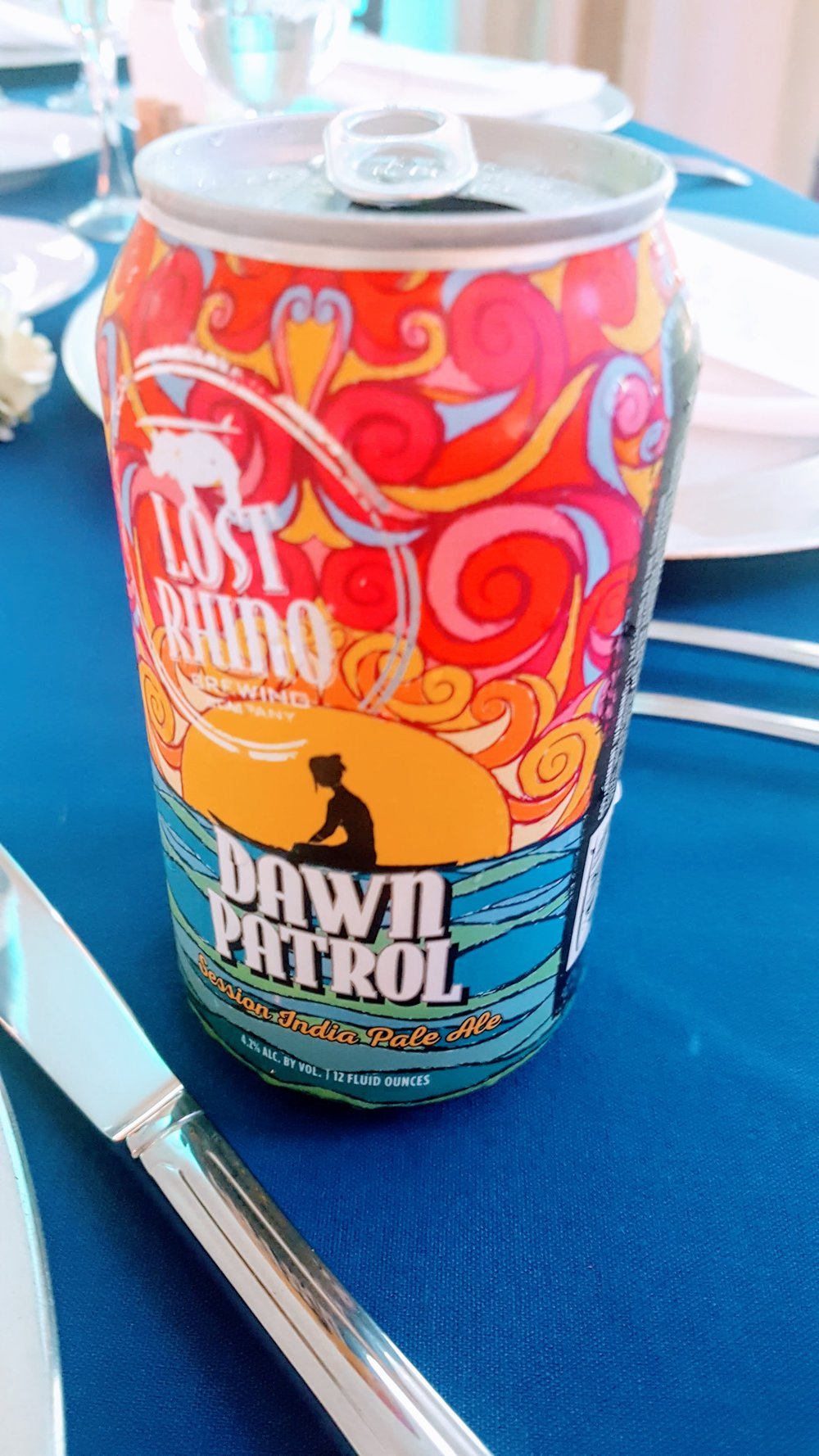 Dawn Patrol - Lost Rhino BrewI had about 7 at my friend's wedding, so I am absolutely able to vouch for this one.    *Best Can Decor*