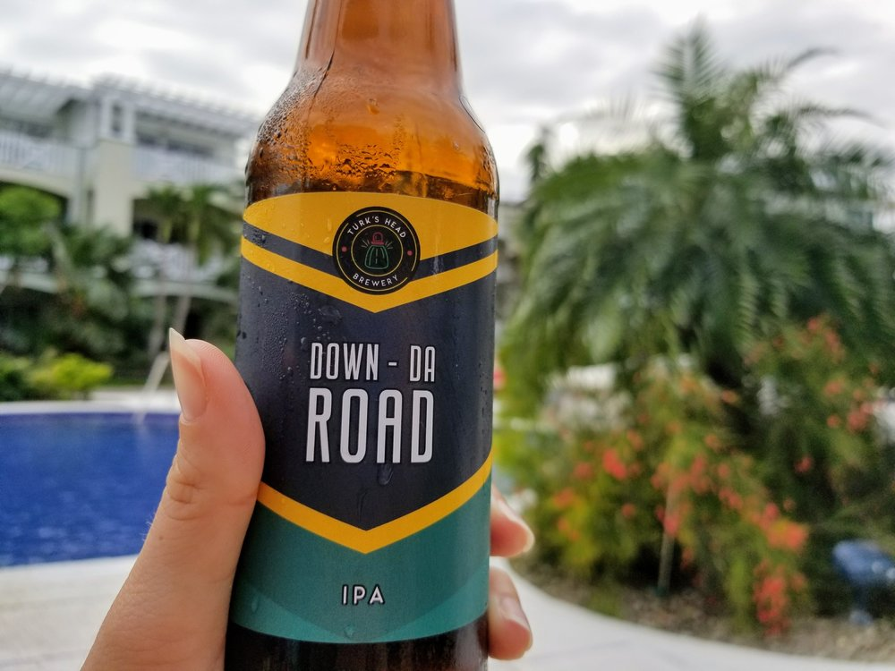- Down-Da Road IPA    Turks Head Brewery    Easy to drink IPA                    First Taste: Poolside Turks and Caicos        *Mellowest IPA*