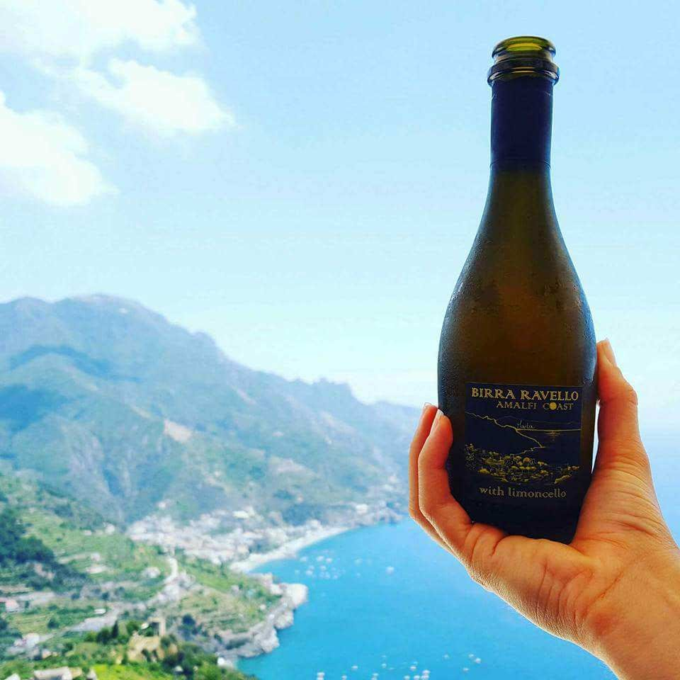 - Birra Ravello with Limoncello       Birra Ravello        Light and refreshing on a scorching day.     *Best Brew with a View*
