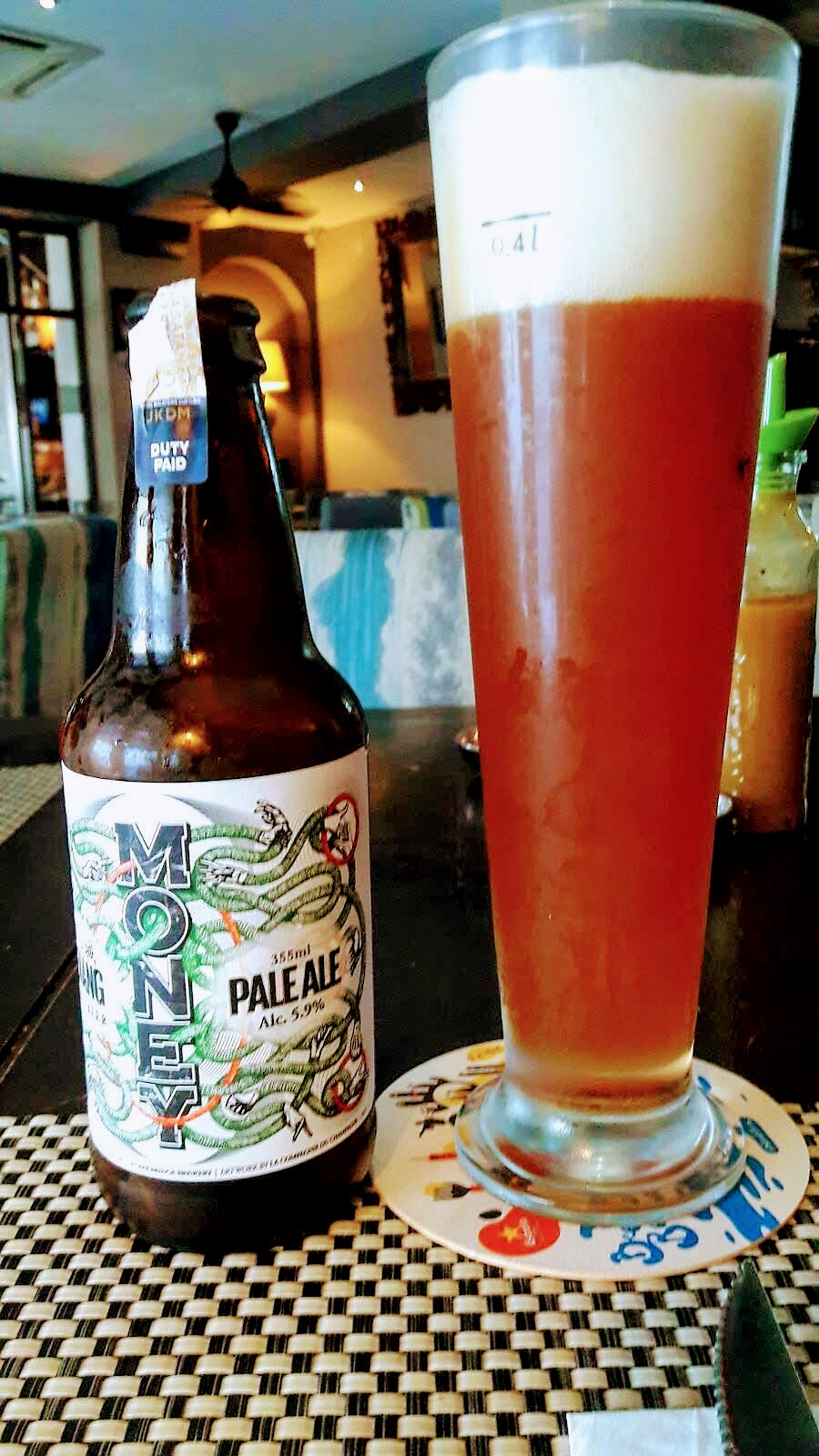 - Money Pale AleThis was the only craft beer I was able to find in Malaysia. Pairs well with: too much pizza.    *Hardest Beer to Find*