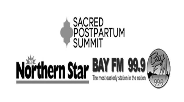 featured in the sacred postpartum summit, the northern star & bay fm 99.9. -