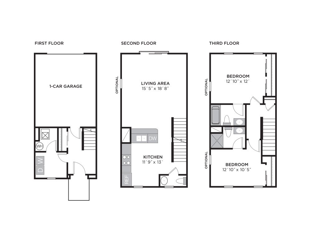 STANSBURY TOWN  |    2 BED  |  2.5 BATH  |  1,179-1,275 SQ FT