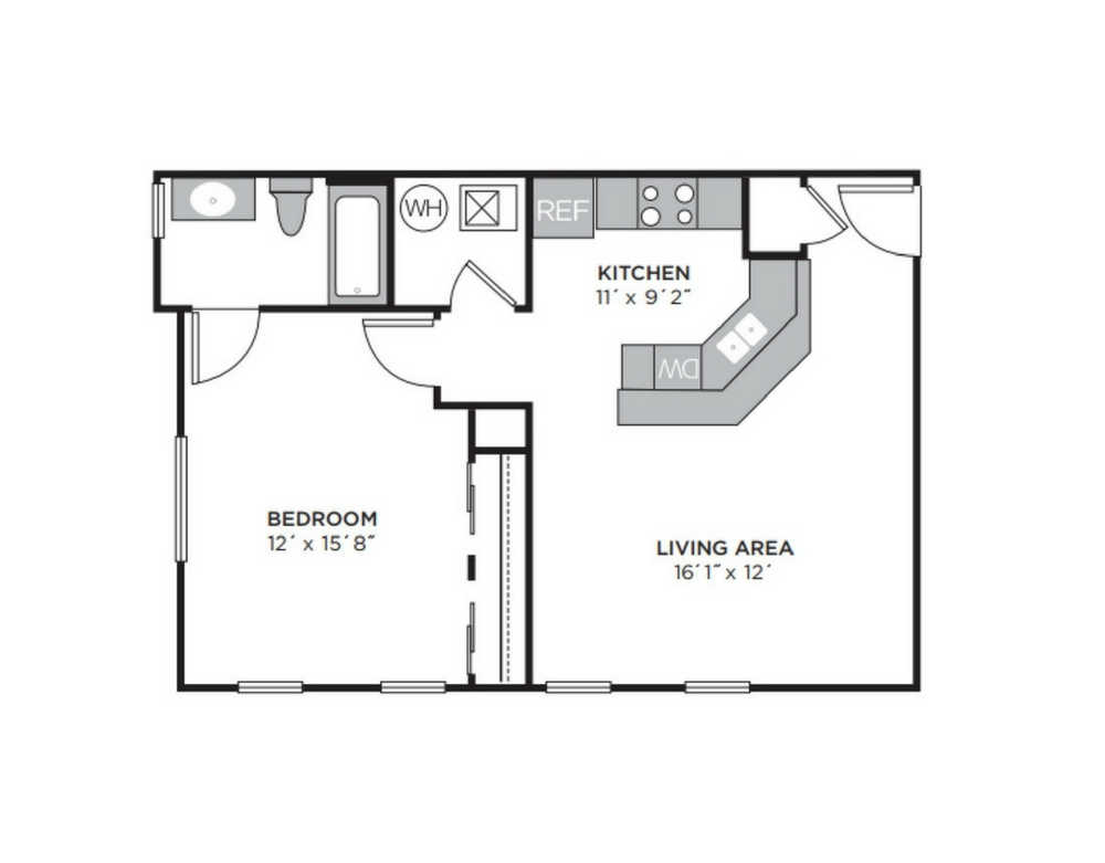 REGENCY FLAT  |    1 BED   |   1 BATH   |  700 SQ FT