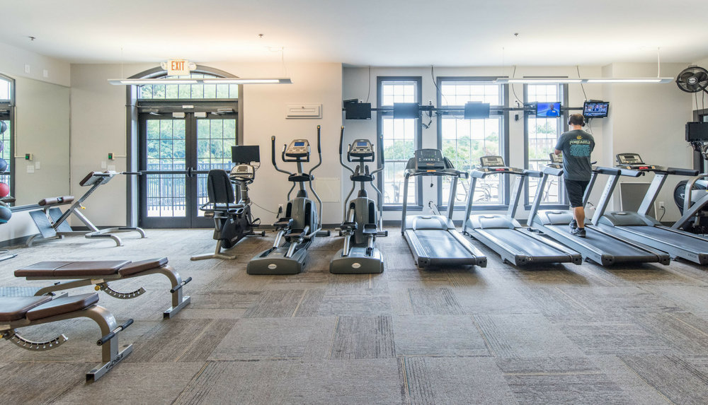 Get fit & work up a sweat. - Enjoy a top notch, 24-hour boutique fitness club, fully equipped with weights and cardio machines. Even better, it's conveniently located just steps from your door without the big price tag of a gym membership.