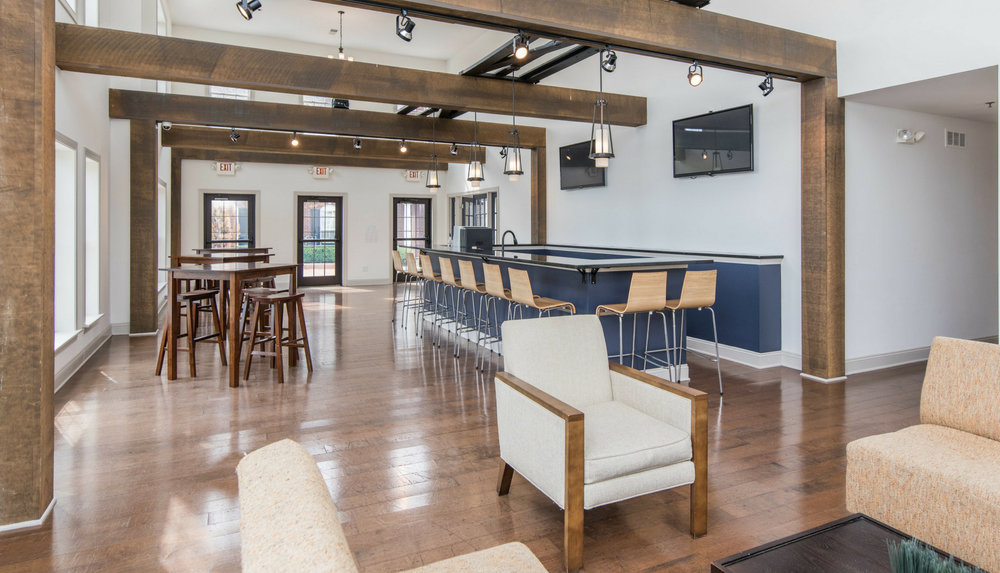 Stay local & get social. - Whether you are hosting a private event with friends & family, or just feel like grabbing a cup of coffee or latte before work, our community center great room is just steps away.