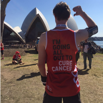 Get a Free Cure Cancer Singlet when you sign up to fundraise for us!