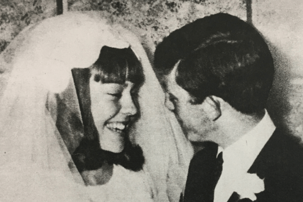 Jenny and her husband on their wedding day.
