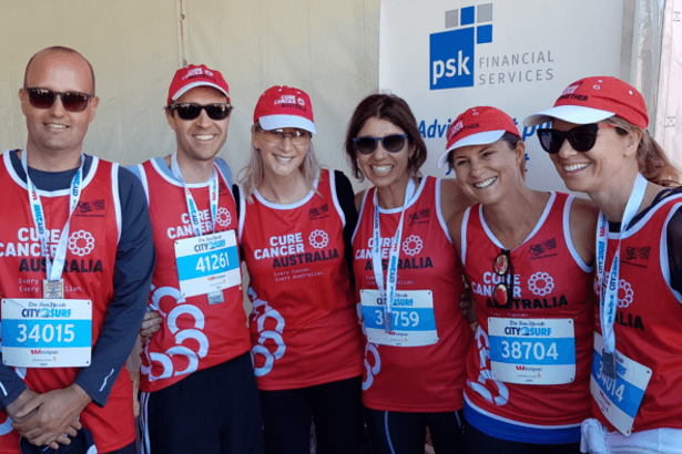 Floyd Larsen with Dawn Schaffer's Family at 2017 City2Surf