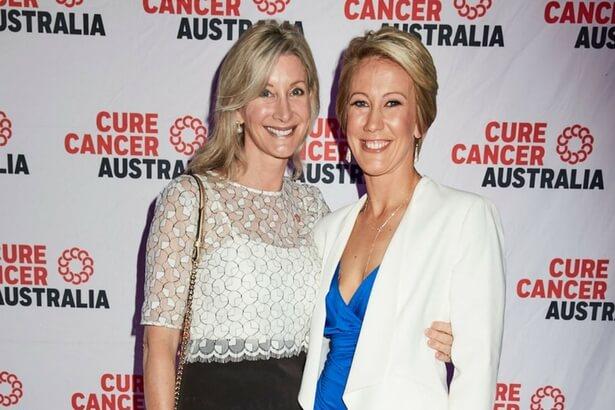 Floyd Larsen and Cure Cancer Australia Ambassador Lisa Greissl.