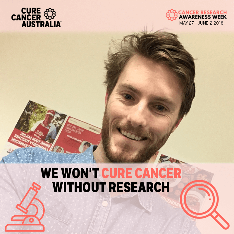 Conor Cancer Research Awareness Week selfie