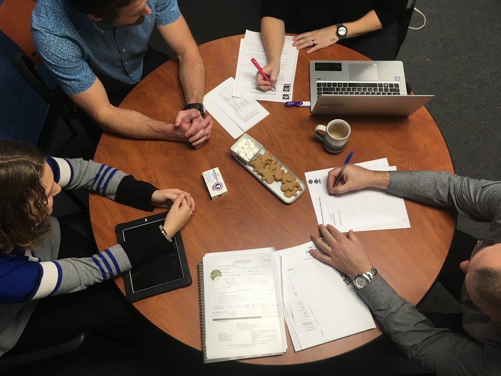 action shot of Janneke's IEP meeting
