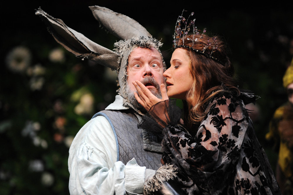John Ahlin with Bianca Amato in A Midsummer Night's Dream