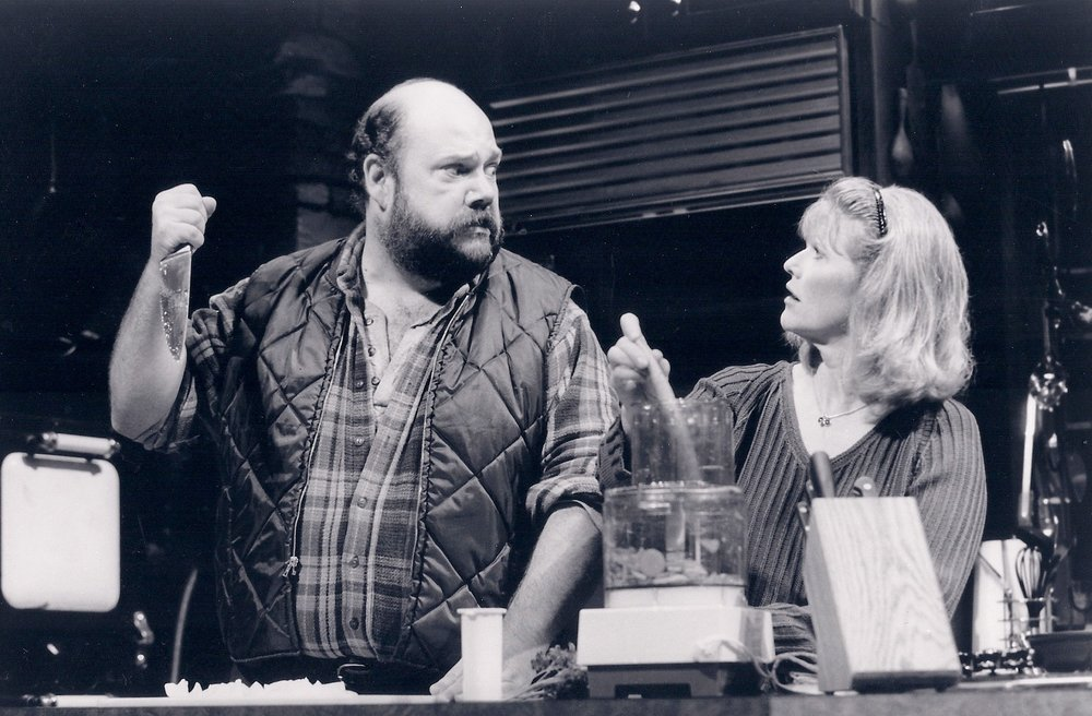 John Ahlin with Judith Ivey in Voices in the Dark