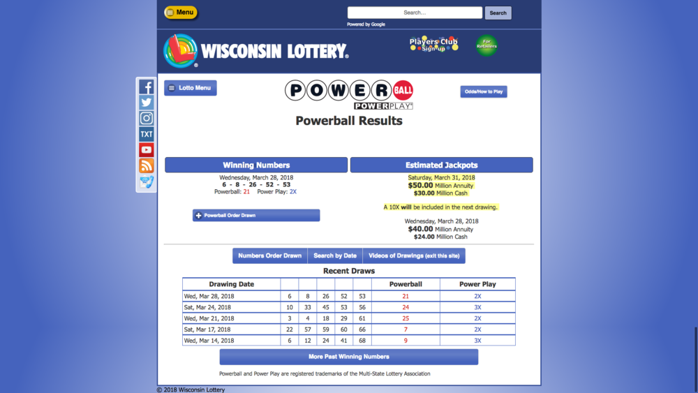 WI Lottery Check Your Numbers