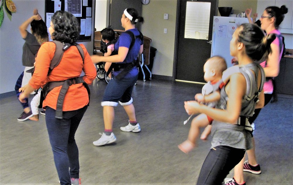 Mom and Baby Latin Dance Fitness Class, Flemingdon Health Center