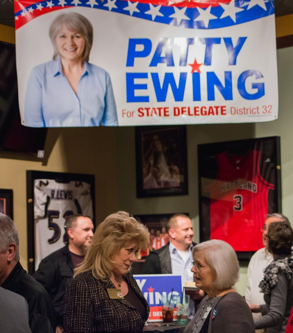 Patty Ewing announcement event