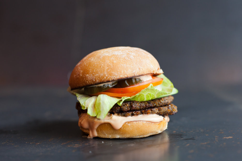 Vegetarian... Vegan... We've got you covered! Mushroom Veggie Burgers for all!