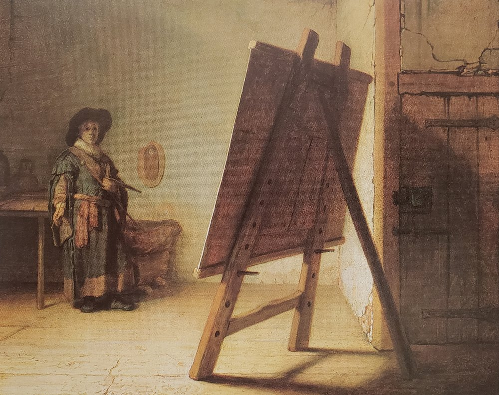 A Young Painter in His Studio, 1629, Rembrandt