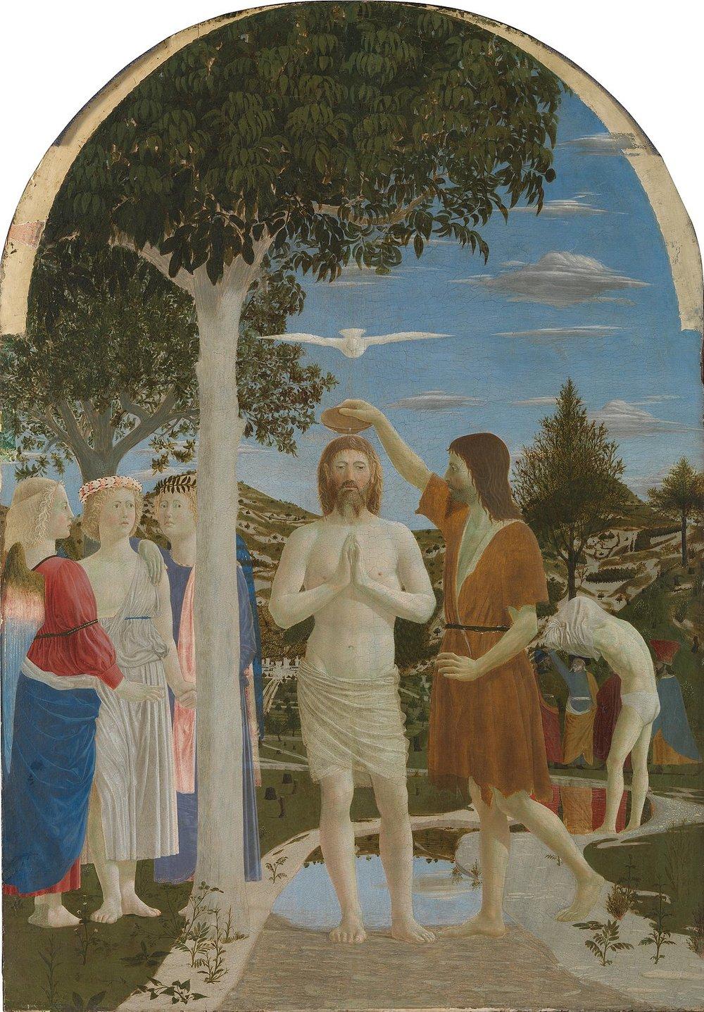 The Baptism of Christ, Piero della Francesca 1450
