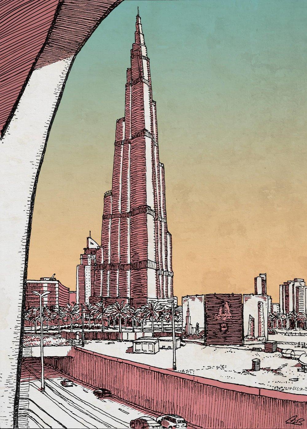 - Dubai - The Burj Khalifa