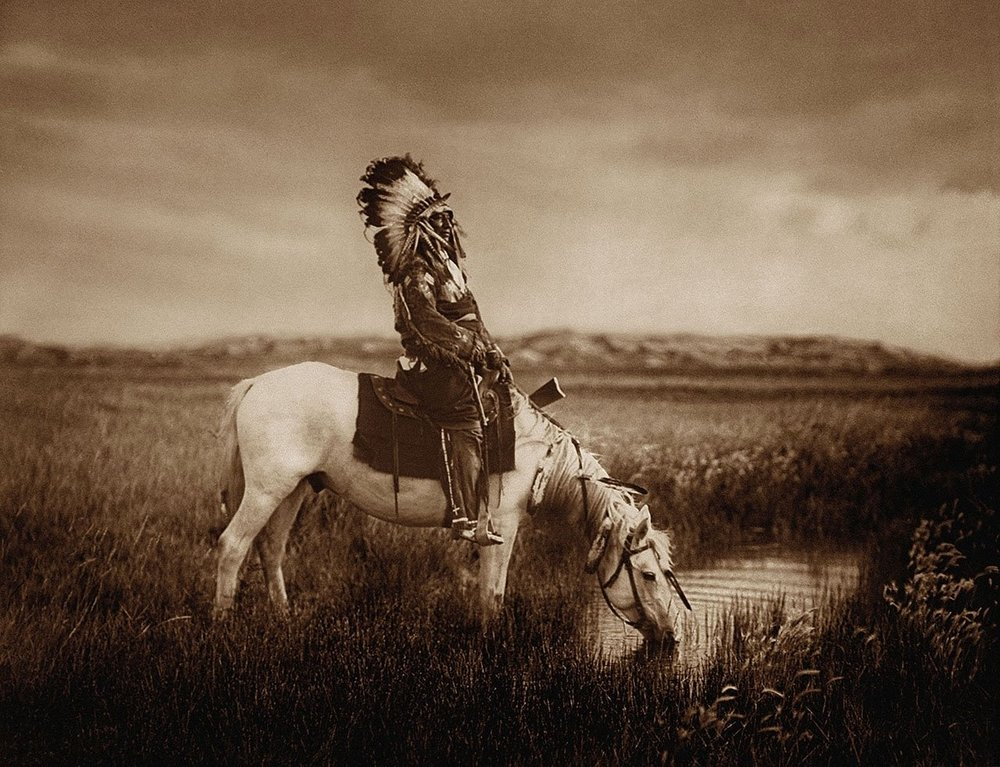 An Oasis in the Badlands / Edward Curtis