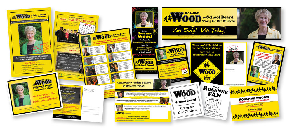 CAMPAIGN MATERIALS  Handouts, postcards, mailers, ads, rally fan, invitations, digital billboard.