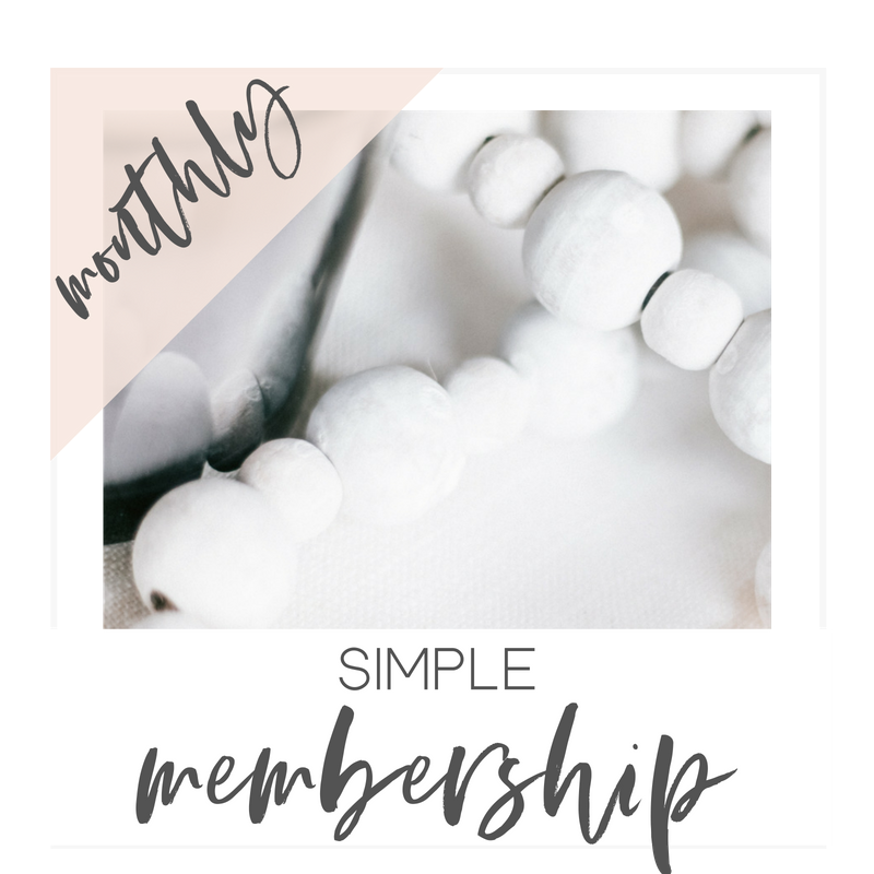 Simple Membership | $15 Monthly - • Access to newest monthly collection + previous month• 5-6 Curated Collections• Unlimited downloads• For your personal business use only• Easy on the go access from your phone
