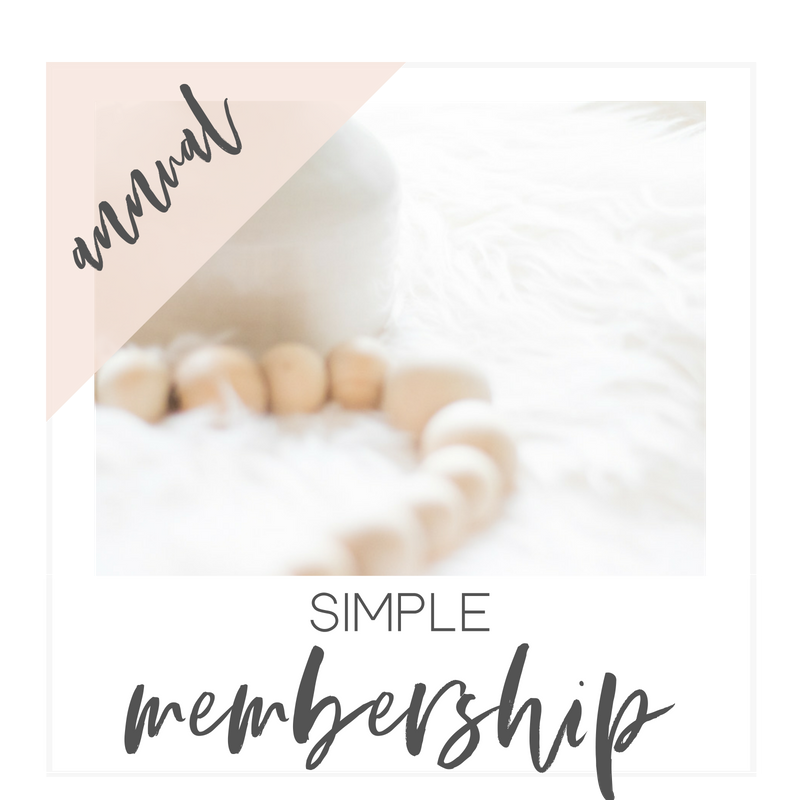 Simple Membership | $165 Annually -