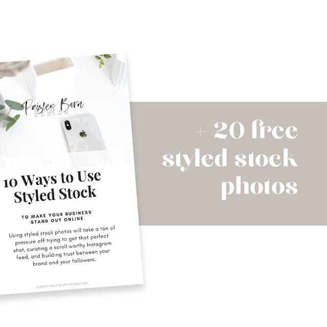 Do you suffer from Styled Stock Overload? Not sure what to do with all the digital pretties that you have collected? . Grab the PDF along with 20 photos... free of course 😍, and get your creative wheels spinning! The PDF included examples of each, because pictures are better than just words, am I right? . Go grab them from my website paisleybarndesign.com or click the link in my IG profile. . Can't wait to see what you create!