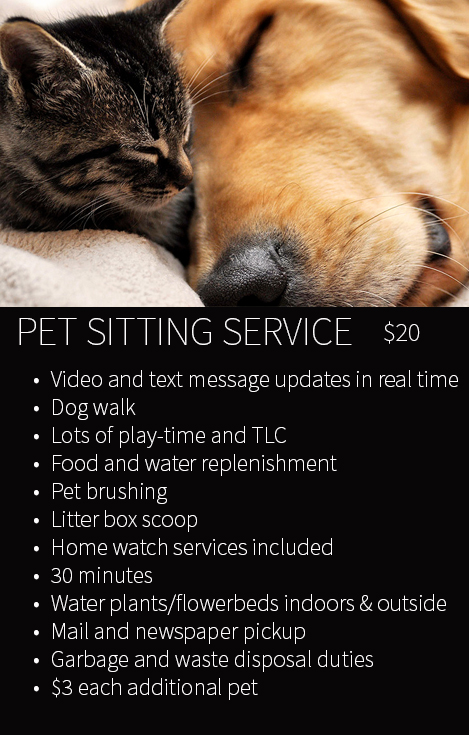 Pet Sitter Patrol Pet Sitting Rates