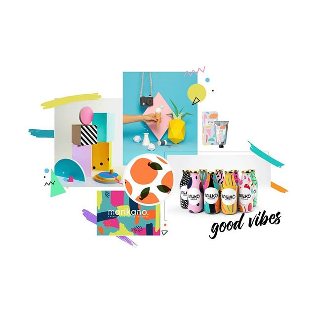 Loving this mood board for a new client branding project. Vibrant, fun and totally giving off summer vibes 😍