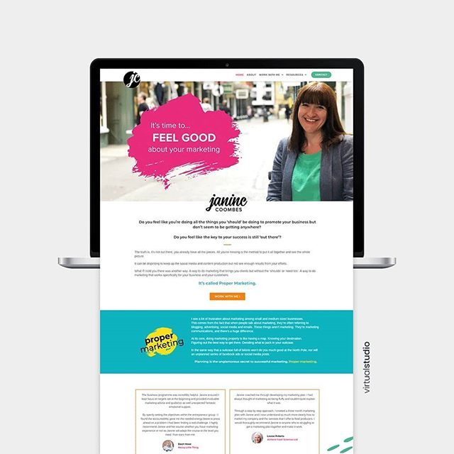 We recently launched the new brand and website for our wonderful client Janine Coombes Marketing. You can view the full brand over on the blog 👆
