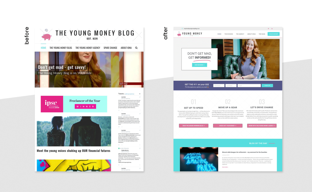Young Money Blog Redesign