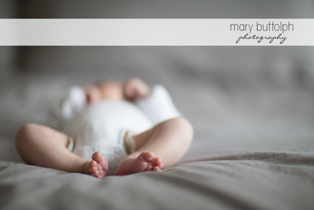 Close up shot of baby's feet at Skaneateles Newborn Photography