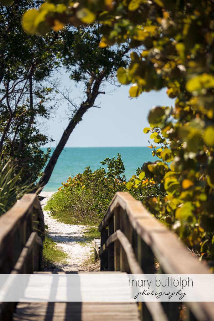 Walkway leading to the beach at Sanibel Island Vacation