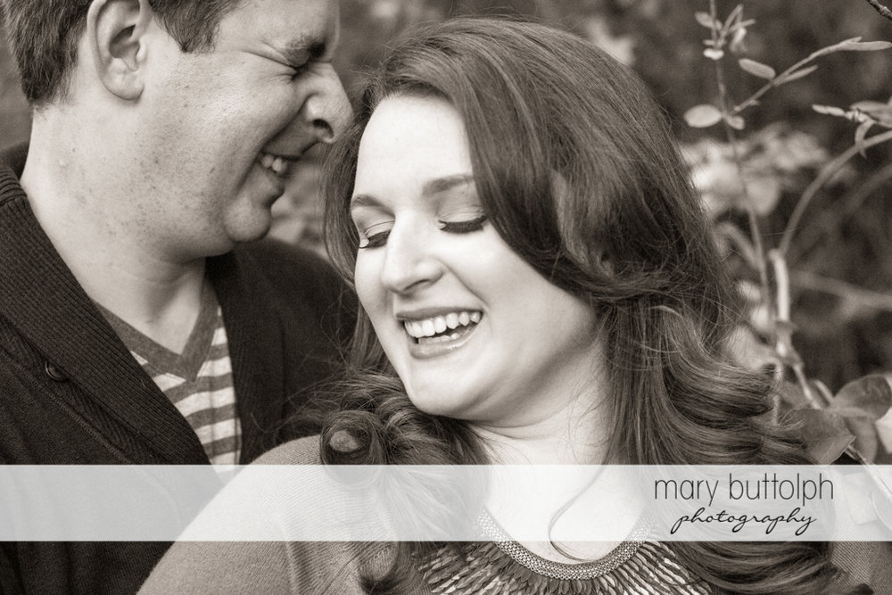 Close up shot of couple at Beaver Lake Nature Center Engagement
