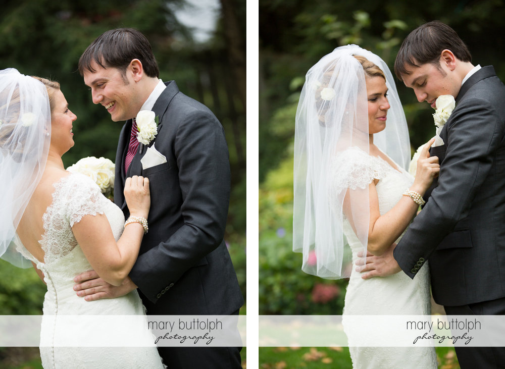 Two different shots of the happy couple at Traditions at the Links Wedding