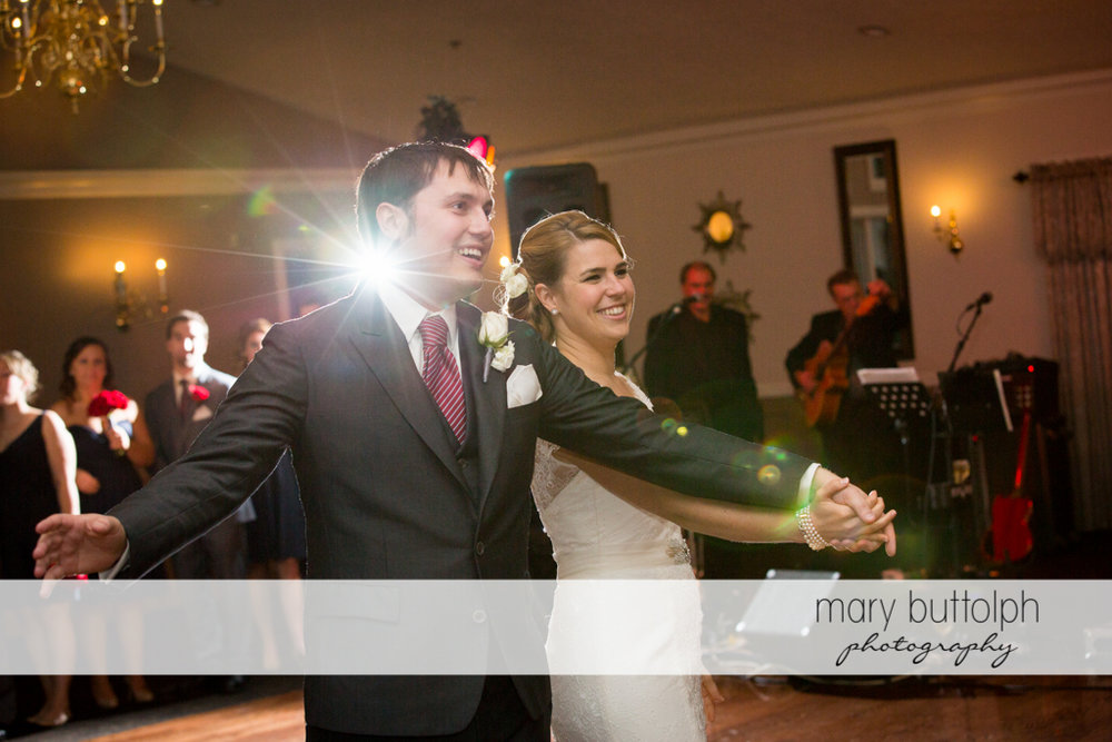 Couple dominate the dance floor at Traditions at the Links Wedding