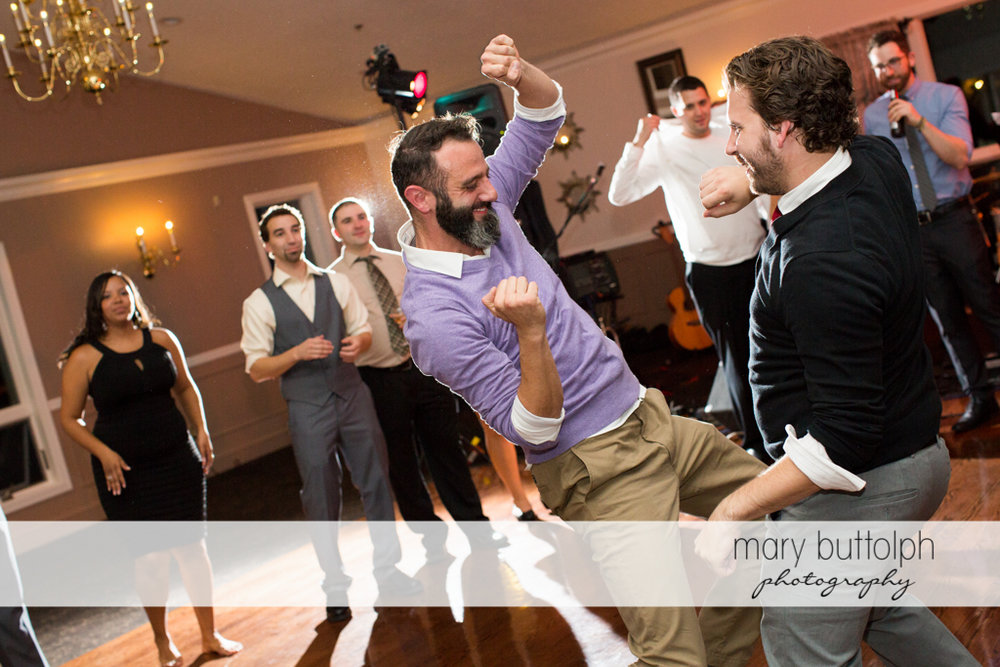 Guest liven up the dance floor at Traditions at the Links Wedding