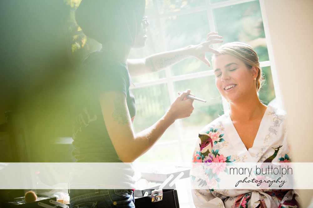 Bride gets a makeover at Traditions at the Links Wedding