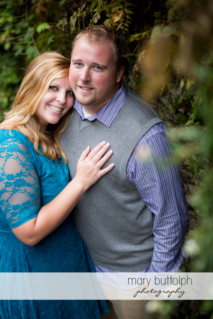 Couple looking good together at Watkins Glen Engagement